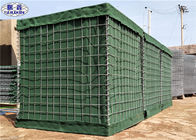 Galfan Coated Geotextile Linded Welded Hesco Defensive Barriers Military Green