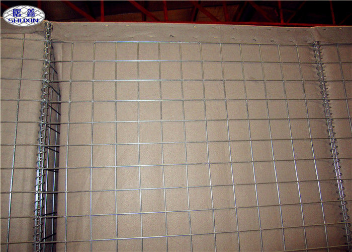 Galfan Coated Sand Filled Barriers , Welded Military Hesco Barriers Gabion