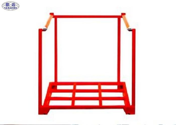 Tire Portable Steel Stacking Racks Heavy Duty Collapsible Red Storage Shelf
